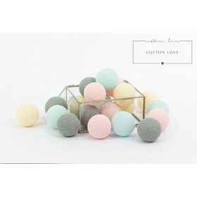 Cotton illuminating ICE marbles Cotton Balls - powdery, cotton love